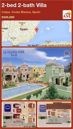 2-bed 2-bath Villa in Calpe, Costa Blanca, Spain ►€245,000 #PropertyForSaleInSpain