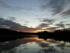 Zonsondergang Kättbosjön