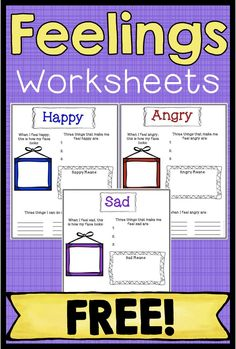 Feelings And Emotions Worksheets Free Group Ideas Coping Skills Activities, Social Emotional Activities, Feelings Activities, Counseling Activities, Career Counseling, Group Activities, Elementary School Counseling, School Social Work, School Counselor