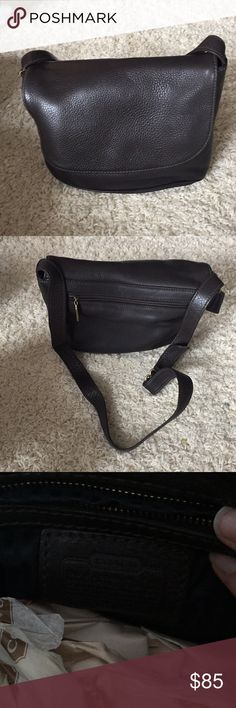 NWOT brown coach crossover bag NWOT never used, COACH brown textured bag. Coach Bags Crossbody Bags
