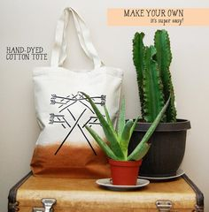 DIY Bag DIY Crafts : DIY OMBRE HAND-DYED TOTE
