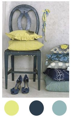 .Great color combination of greens and blues