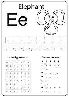 Writing Letter K. Writing AZ, Alphabet, Exercises Game For Kids. Az Alphabet, Alphabet Writing, Alphabet For Kids, Learning Letters, Kids Writing, Kids Learning, Letter E Worksheets, Writing Practice Worksheets, Alphabet Worksheets