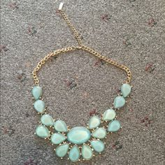 TEAL BIB NECKLACE Practically new without tags Jewelry Necklaces
