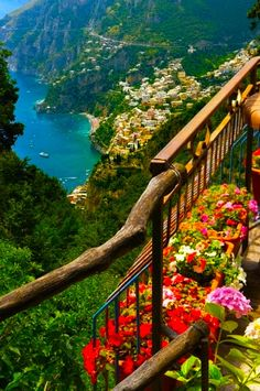 Ocean view of the Amalfi Coast in Italy