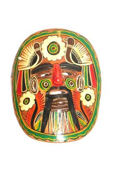 Vintage Mexican Wall Mask, Pottery, Clay, Tonala, Tlaquepaque, Mexico, Antique Alchemy on Etsy, $25.32 CAD