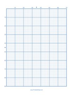 This cross-stitch paper has 10 lines per major division and is not to scale; each minor division measures 1/10 of an inch. Free to download and print