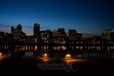Portland, Oregon Skyline at Dusk - #Portland #Oregon #skyline #waterfront