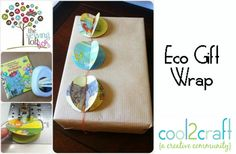 How cool! Heather Valentine turned children's books into stitched eco gift wrap trim. LOVE it! http://cool2craft.com
