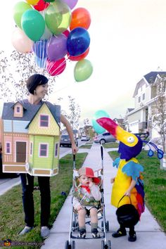 Homemade Up! Family Costume via http://creativelychristy.blogspot.com