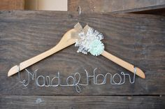 Maid of Honor wire Hanger for bridesmaid Dress by WeddingDistinct, $22.00
