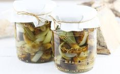 Grzyby marynowane słodko ostre Polish Recipes, Mason Jars, Meat, Easy Meals, Canning Jars, Glass Jars, Jars