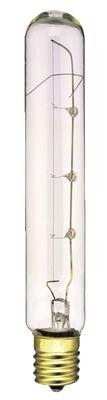 25 Watt T6 1/2 Incandescent Light Bulb, 2600K Clear E17 (Intermediate) Base, 130 Volt, Box