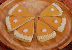 Pumpkin Pie Shaped Sugar Cookies