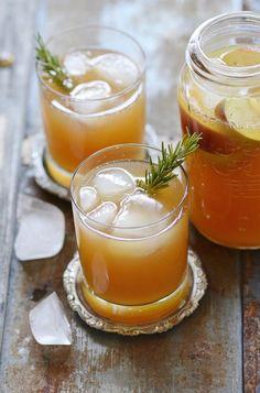 Perfect Fall Drink:  The Bourbon Bomber - Apple cider, bourbon, lemon zest, agave nectar & nutmeg.
