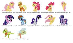 Package 12 My Little Pony 05 Embroidery Designs  This listing is for a digital file to be embroidered. You will need an embroidery machine to