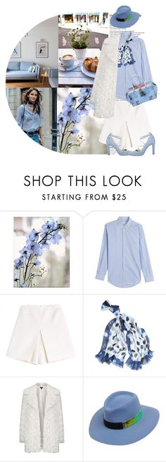 """""""Blue Sky Shining on a Gleaming Snow Encrusted Earth"""" by terrelyn-thomas-no-tags ❤ liked on Polyvore featuring Talulah, Marc Jacobs, Carven, White House Black Market, Topshop, Maison Michel, women's clothing, women's fashion, women and female"""