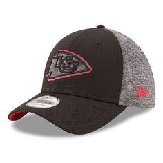 e96cba914b09b Men s Kansas City Chiefs New Era Black Heathered Gray Fierce Fill 39THIRTY  Flex Hat