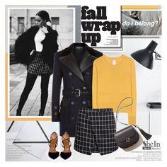 """Fall wrap up"" by purpleagony ❤ liked on Polyvore featuring Balmain, Jardin des Orangers, Aquazzura, MINISKIRT, falloutfit, fall2015 and shein"