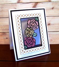 Ann Greenspan's Crafts: Stained Glass Roses