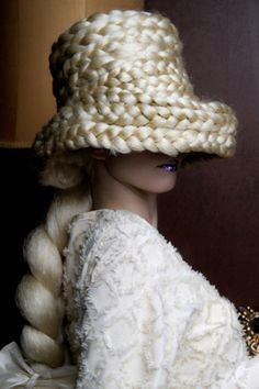 hair hat is ridiculous!  But look at the fat twist braid in the back-love that