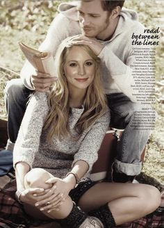 Joseph Morgan and Candice Accola. Just waiting for this.