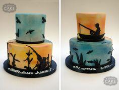 Hunting/fishing cake