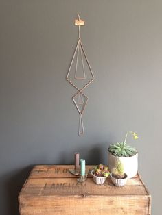 Geometric Copper Wall Hanging Mobile Kite by InTheMakingMade