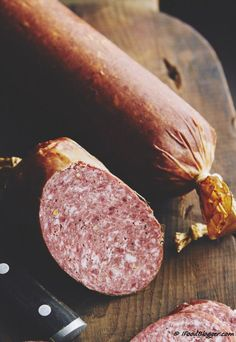 Smoked Sausage and Meat - Taste of Artisan Homemade Summer Sausage, Summer Sausage Recipes, Homemade Sausage Recipes, Venison Summer Sausage Recipe Smoked, Venison Salami Recipe, Salami Recipes, Jerky Recipes, Venison Recipes, Charcuterie