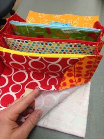 Pictures of sewing the Sew together bag