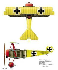 Fokker Dr.I - 454/14 - Leutnant Lothar von Richtofen - Jasta 11, marzo 1917.