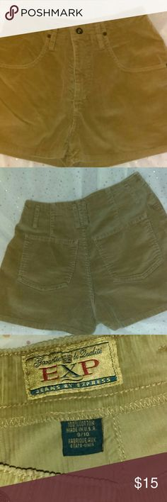 Vintage Express corduroy shorts Great condition vintage corduroy shorts. Has bigger belt loops for a wider belt. Very cute. Made in the U.S.A.  Tag  size 9/10. Express Shorts Jean Shorts