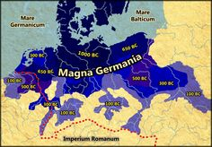 Germanic settlement 1000 BC - 100 BC by on deviantART History Of Wine, World History, Middle Ages History, Germanic Tribes, Alternate History, Historical Maps, Dark Ages, History Facts, Ancient History