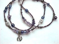 Amethyst Adinkra  God Is All Waistbeads by WrapandSoul on Etsy, $20.00