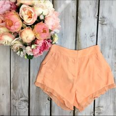 Bebe Flutter Shorts These flirty shorts would go super cute with gold strappy heels and a white or cream top. Never been worn  bebe Shorts