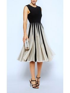 Vestito Estate Donna Lavoro Elegante Chiffon 110057