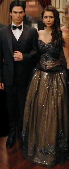 Damon and Elena  Stunning @ the Originals Ball Esther's Ball