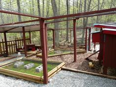 amazing chicken coop / yard / palace?? wow.  love some of the ideas!  @Daniel Davis