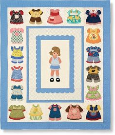 Love this!!!!  Paper doll quilt for the little girl in all of us