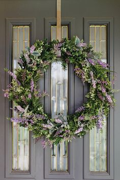 Summer Wreath-Spring Wreath-Lavender Wreath-Door Decor Year