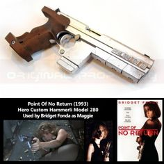 Hammerli 280 as used in the movie Point of No Return with Bridget Fonda. I always thought this was just a made up 'prop' gun, but apparently it's an actual target pistol.