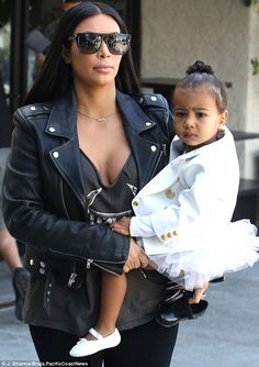 Mommy's tiny dancer: Kim Kardashian took her daughter North West to dance class in LA on Thursday
