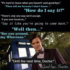 Farewell, 11. Farewell, Sweetie. | Doctor Who