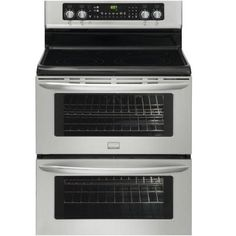 Frigidaire 30 in. 7.0 cu. ft. Double Oven Electric Range with Self-Cleaning Convection Oven in Stainless Steel-FGEF306TMF at The Home Depot  Nances price $1399