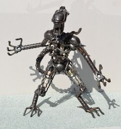 Hand Made ALIEN - 12 Inches  -Recycled Scrap Metal Art, created by Abdel Sayed Ahmed