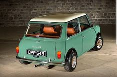is actually selling this if this is anyone's dream car Mini Cooper Classic, Mini Cooper S, Classic Mini, Classic Trucks, Classic Cars, Cool Welding Projects, Car Paint Colors, Mini Morris, Cars Coloring Pages
