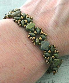 Linda's Crafty Inspirations: Bracelet of the Day: Sandra Silky Bracelet - Jade Red Luster