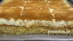 Kalabaka's sweet pastry - TasteDriver by Sissy Nika Greek Sweets, Greek Desserts, Greek Recipes, Sweets Cake, Cupcake Cakes, Food Network Recipes, Food Processor Recipes, Greek Cake, Low Calorie Cake