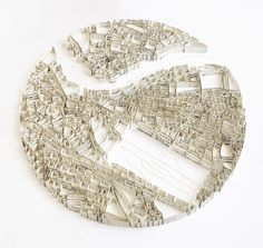 Paper Cities by Matthew Picton Duralar, enamel paint, pins . Photographed by Rob Jaffe London artist Matthew Picton uses strips. Up Book, Book Art, Art Origami, Book Sculpture, Paper Sculptures, Wall Sculptures, Landscape Model, Arch Model, Architecture Drawings
