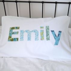 a pillowslip for Emily